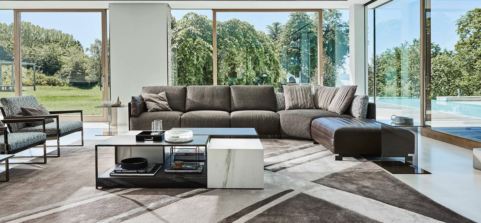 Bag the leather contemporary sofa 100 made in italy for Made divani