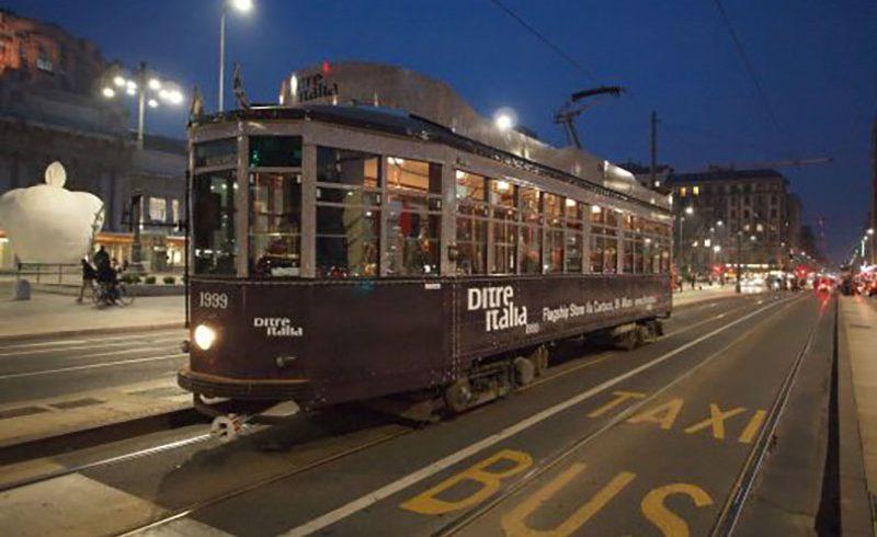 A tram signed Ditre Italia